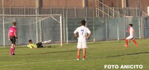 il gol di Trotta su rigore (Foto Anicito)